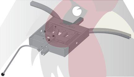 40x35x2,5mm Ray için 90 Derece 3 Yöne Dönüş Dönüş İstasyonu - Manuel