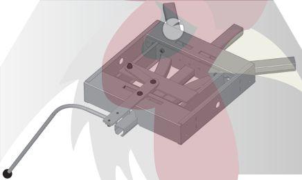 40x35x2,5mm Ray için 45 Derece 3 Yöne Dönüş Dönüş İstasyonu - Manuel