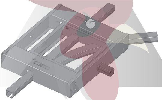40x35x2,5mm Ray için 45 Derece Sağa Dönüş İstasyonu - Pnömatik