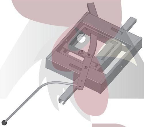 40x35x2,5mm Ray için 45 Derece Sola Dönüş İstasyonu - Manuel