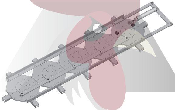 40x35x2,5mm Ray için 5'li Dört Yöne Dönüş İstasyonu - Pnömatik