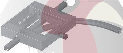 40x35x2,5mm Ray için 90 Derece Sağa Dönüş İstasyonu - Pnömatik