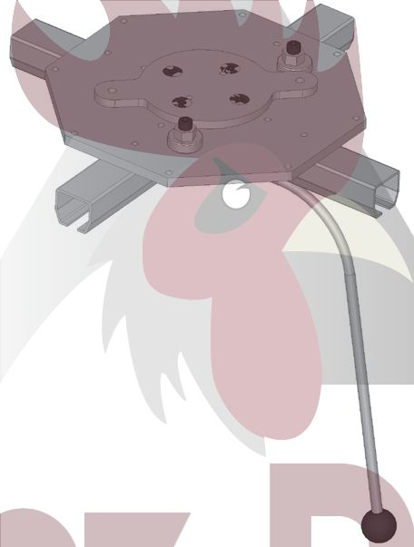 40x35x2,5mm Ray için Dört Yöne Dönüş İstasyonu - Manuel