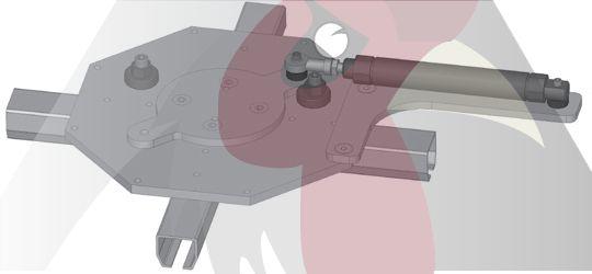 40x35x2,5mm Ray için Dört Yöne Dönüş İstasyonu - Pnömatik