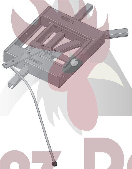 48,5x44x3mm Ray için 45 Derece Sağa Dönüş İstasyonu - Manuel