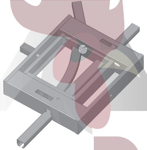48,5x44x3mm Ray için 45 Derece Sola Dönüş İstasyonu - Pnömatik