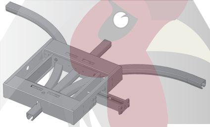 48,5x44x3mm Ray için 90 Derece 3 Yöne Dönüş İstasyonu - Pnömatik