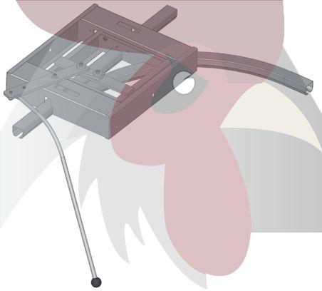 48,5x44x3mm Ray için 90 Derece Sağa Dönüş İstasyonu - Manuel