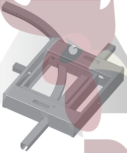 48,5x44x3mm Ray için 90 Derece Sola Dönüş İstasyonu - Pnömatik