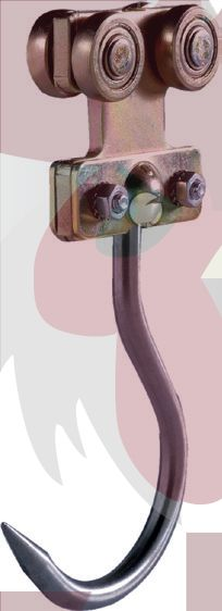 48,5x44x3mm Ray İçin Inox Kancalı Taşıyıcı Askısı