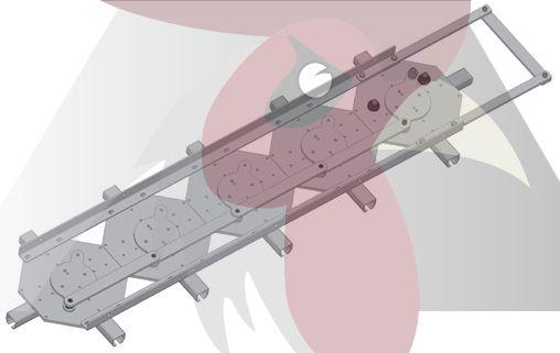 65x51x4mm Ray için 5'li Dört Yöne Dönüş İstasyonu - Manuel