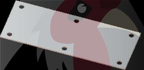 Orta Seri 100x89x5mm Uçan Kapı Bağlantı Referans Sacı