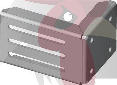 Küçük Seri 68x68x3,5mm Uçan Kapı Duvar/Zemin Bağlantı Sacı