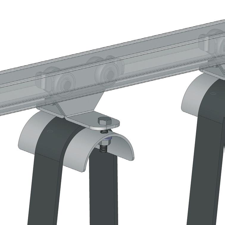 40x35x2,5mm Ray İçin Tavan Vinci Hareketli -Ara- Kablo Taşıyıcı