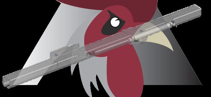 Konveyör Sistemi İçin Ray Kırım Parçası (40x35x2,5mm Ray İçin)