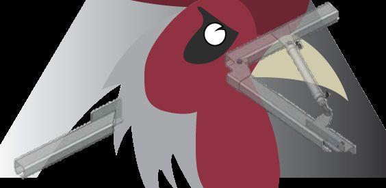 Konveyör Sistemi İçin Ray Kırım Parçası (48,5x44x3mm Ray İçin)