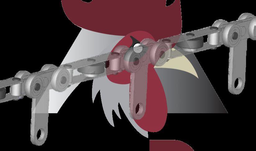 Konveyör Sistemi İçin Zincir Askı (48,5x44x3mm Ray İçin)