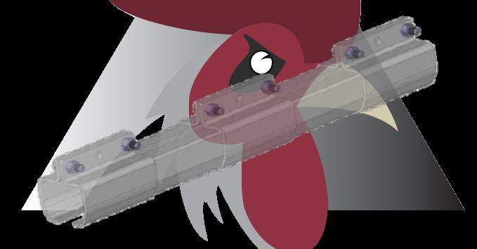 Konveyör Sistemi İçin Zincir Kolay Giriş Parçası (48,5x44x3mm Ray İçin)