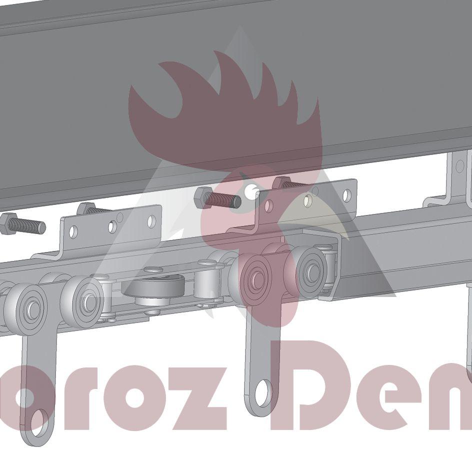 Konveyör Sistemi İçin Zincir Kolay Giriş Parçası (65x61x4mm Ray İçin)