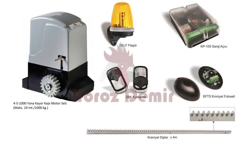 Yana Kayar Kapı Motor Seti  (Maks. 10 mt./1000 kg.)